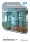 Bollettino n. 4 - Ed. 2018 - Regole di sicurezza per l'applicazione del vetro stratificato di sicurezza negli ascensori